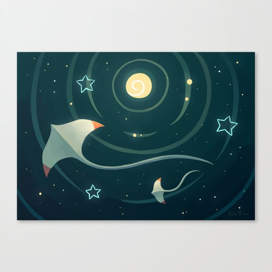 Space Ray Canvas Print