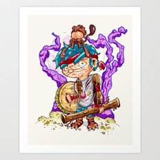 Jungle pirate. Art Print