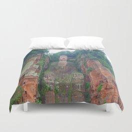 Stone Buddha Duvet Cover