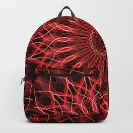 Pretty red an pink detailed mandala Backpack