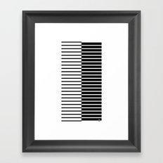 Zebra Plays Piano Framed Art Print