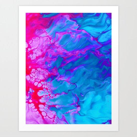 pink bubble Art Print