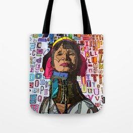 Kayan #illustration #typography #drawing Tote Bag