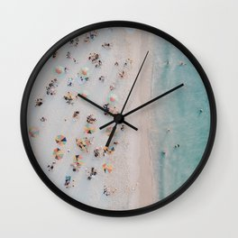 summer beach iii Wall Clock