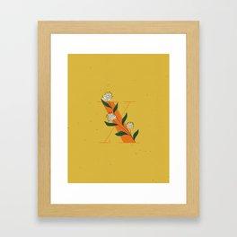 X for Xylosma Framed Art Print