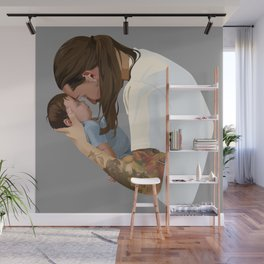 Father and Son Wall Mural