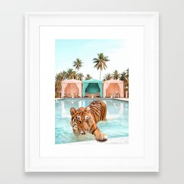 Cabana Tiger Framed Art Print