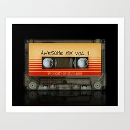 Awesome transparent mix cassette tape volume 1 iPhone 4 4s 5 5c 6, pillow case, mugs and tshirt Art Print