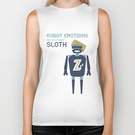 Sloth Robot Emotions Biker Tank