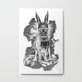 Pollution Mask Metal Print