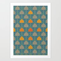 camping Art Prints featuring Camping by Mimi