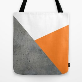 Concrete Tangerine White Tote Bag
