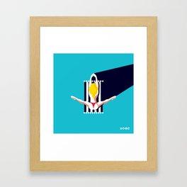 Yoga Girl Framed Art Print