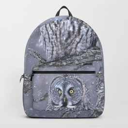 Beautiful gray on a snowy day  Backpack