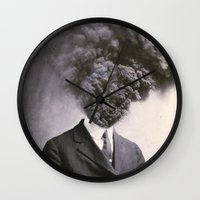 city Wall Clocks featuring Outburst by J U M P S I C K ▼▲