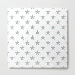 STARS DESIGN (SILVER-WHITE) Metal Print