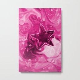 PinkStar Metal Print