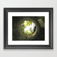 Into the pit - Lismore Towers Framed Art Print