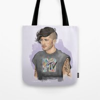 zayn Tote Bags featuring Zayn  by Coconut Wishes