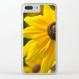 Sunny Flower Clear iPhone Case