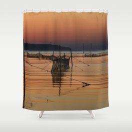 Fishing Nets in the Water Shower Curtain