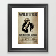 Wanted Poster Framed Art Print