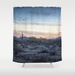 Hot Air Balloons Outside Phoenix at Sunset Shower Curtain
