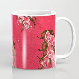 Foxgloves in Red Coffee Mug