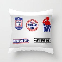 Happy Veterans Day 2 Throw Pillow