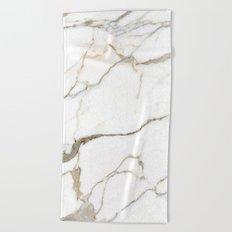 White Marble Beach Towel