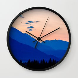 Peaceful Sunset Wall Clock