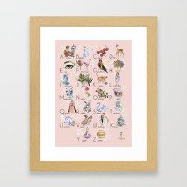 English alphabet for girls Framed Art Print