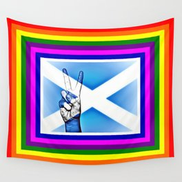 Scotland World Peace Flag Wall Tapestry