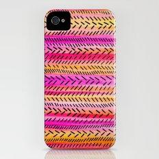 FUNKY RHYTHM 2 - Beautiful Fun Collaboration w Sreetama Ray, Pretty Feminine Pink Orange Pattern iPhone (4, 4s) Slim Case