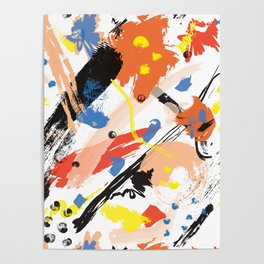 Abstract Floral Splash Poster