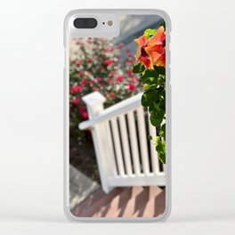 Flora Stoop Clear iPhone Case