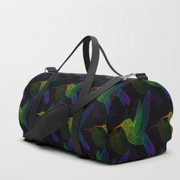 Rainbow Hummingbird Duffle Bag