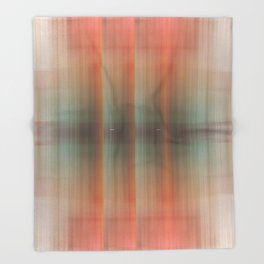 Abstract pattern pink and grey Throw Blanket