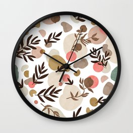 Vibrant colorful fall nature  Wall Clock