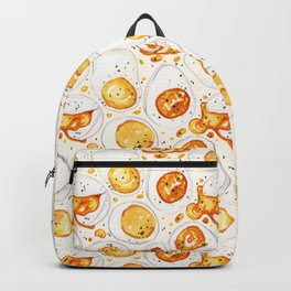 Cooked Eggs Watercolor Backpack