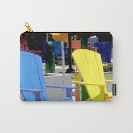 Brightly Colored Chairs Carry-All Pouch