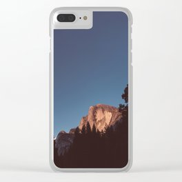 Half Dome Sunset II Clear iPhone Case