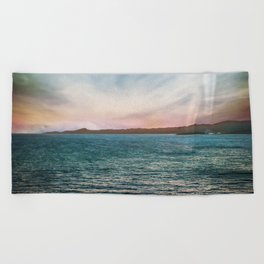 Roatan Sunset II Beach Towel