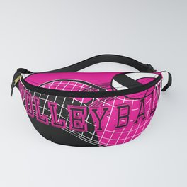 Volleyball Sport Game - Net - Hot Pink Fanny Pack