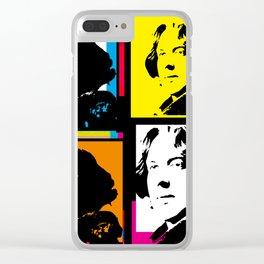 OSCAR WILDE (4-UP POP ART COLLAGE) Clear iPhone Case