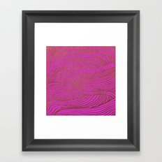 Wind Hot Pink Gold Framed Art Print