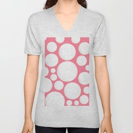 White Dots Unisex V-Neck