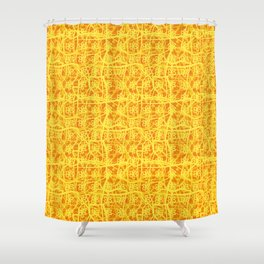 abstract floral plaid Shower Curtain