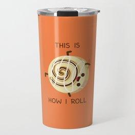 Cartwheeling Cinnamon Roll Travel Mug
