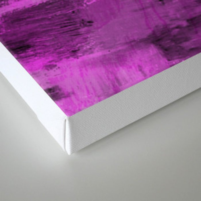 Purple Haze - Abstract, purple and black painting Canvas Print